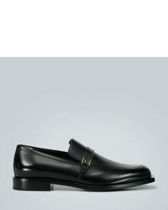logo皮革乐福鞋