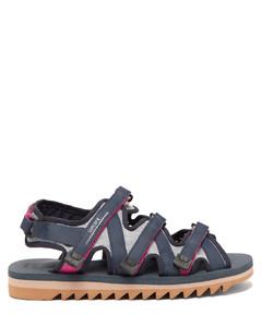 Zip multi-strap technical-canvas sandals