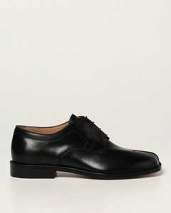 Tabi derby shoes in leather
