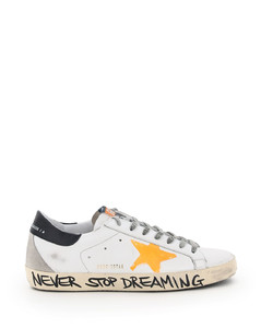 SUPERSTAR CLASSIC SNEAKERS PRINT STAR SIGNATURE FOXING