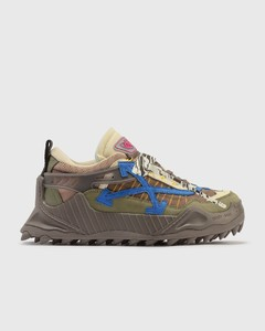 Fabric and brushed leather sneakers
