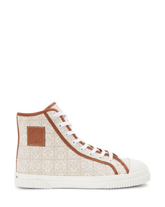 Anagram high top sneaker in canvas