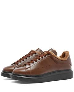 Shearling Lined Wedge Sole Sneaker