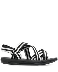 slipper in suede and raffia