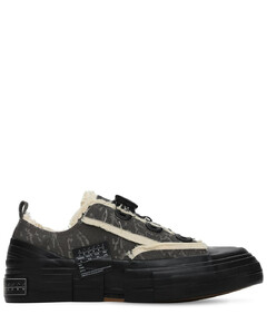 Xvessel Layered Canvas Camo Low Sneakers