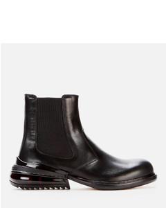 Men's Leather Chelsea Boots - Black/Shiny Black