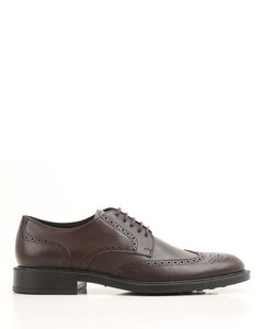 Semiglossy leather Derby brogues