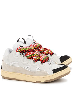 Curb white panelled mesh sneakers