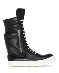 Tread Slick blue denim hi-top sneakers
