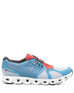 Black and yellow leather sneakers
