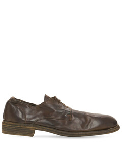 Washed Leather Lace-up Shoes