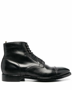 vulcanized leather low sneakers