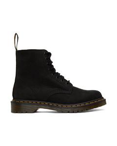黑色1460 Pascal牛巴革踝靴