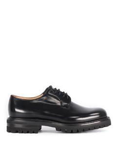 Shannon T black lace-up shoe