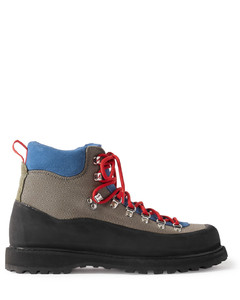 Roccia Vet Rubber-Trimmed Suede and Canvas Boots