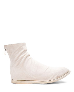 Kangaroo Suede Boots in White