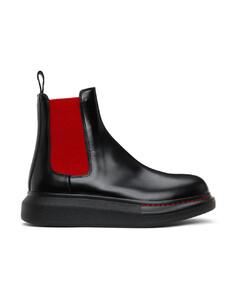 黑色Hybrid切尔西靴