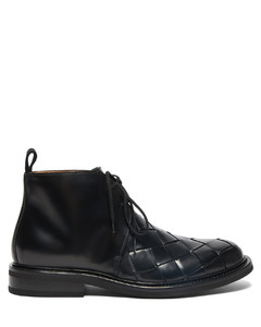 Intrecciato leather desert boots
