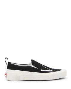 黑色Padmore & Barnes联名绒面革乐福鞋