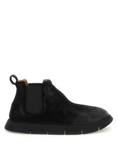 织带皮革拖鞋