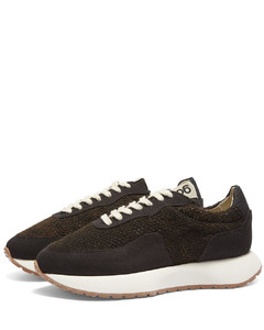 Track Classic Leather-Trimmed Suede and Ripstop Sneakers