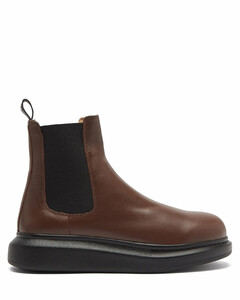 Hybrid chunky-sole leather Chelsea boots