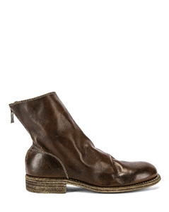 Back Zip Boot in Brown