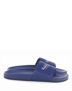 Sandals WAM00 nappa leather Logo blue