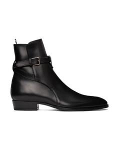 黑色Wyatt Jodhpur踝靴