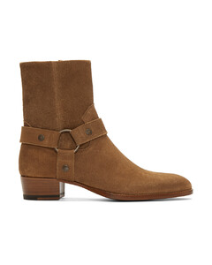 棕色Wyatt绒面革踝靴