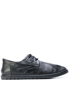 拼接平底系带鞋