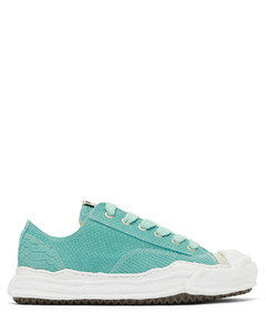 Hank snake-effect suede trainers