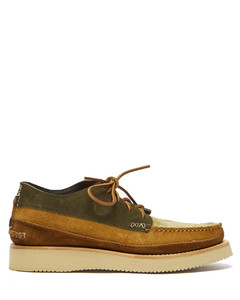 Semi Handsewn Maine Guide suede moccasins