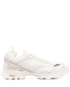 Maple Leaf print leather sneakers