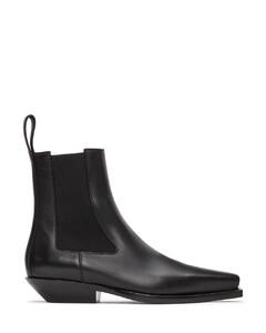 黑色BV Lean切尔西靴