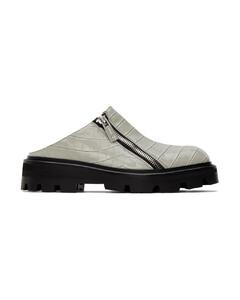 白色做旧高帮运动鞋