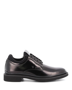 Leather lace-ups with sock insert