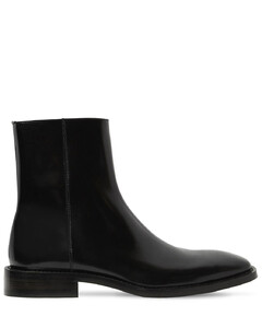 Patent Leather Rim Booties