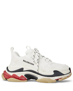 Triple S Mesh and Leather Sneakers