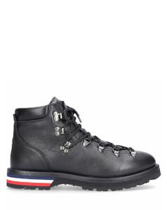 Boots PEAK calfskin Logo Metal eyelets black