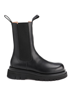 Slip on boots in smooth leather