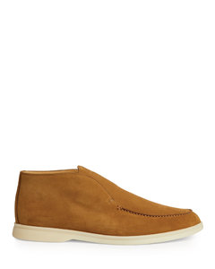Alic Scritto-debossed suede loafers
