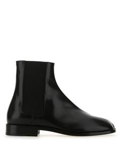 Black leather Tabi ankle boots Black Maison Margiela Uomo