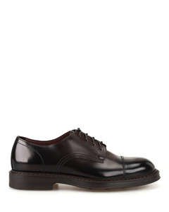 Polished leather cap toe Derby shoes