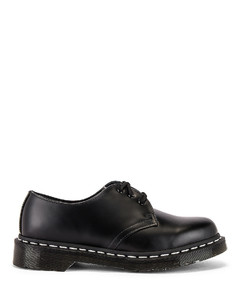 1461 White Stitch Shoe in Black