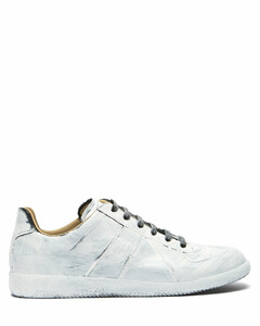 Replica painted leather trainers