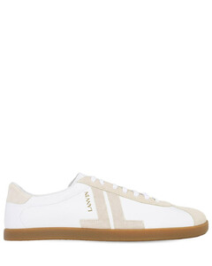 Leather Low Top Sneakers W/logo