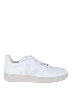 Nylon high-top sneakers