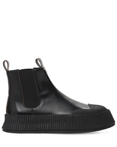 Vulcanized Leather Chelsea Boots