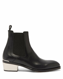 Silver-cap leather Chelsea boots